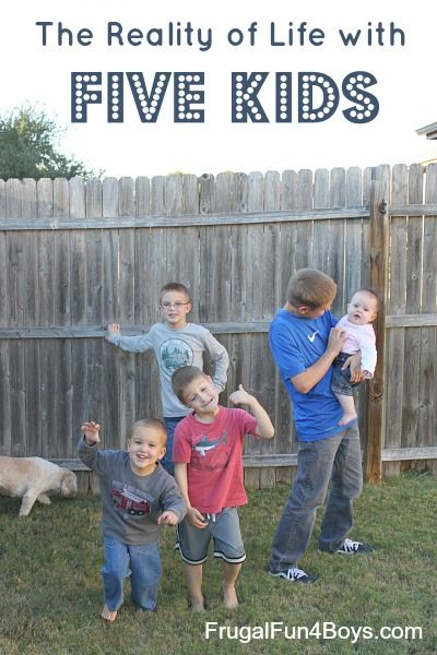 What life with five is really like, from a mom's perspective. Yes it's crazy, yes it's loud, but it's more than that...