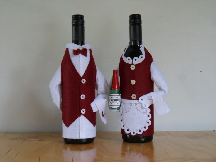 Wine bottle covers-Waiters: