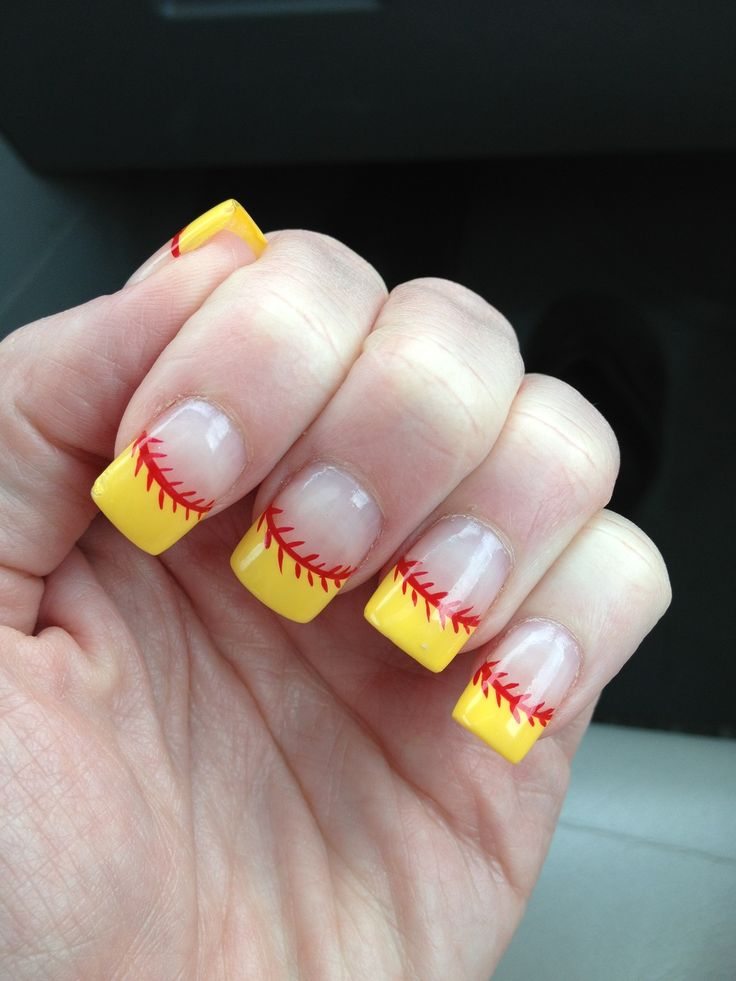 Softball nails @Allison Borden