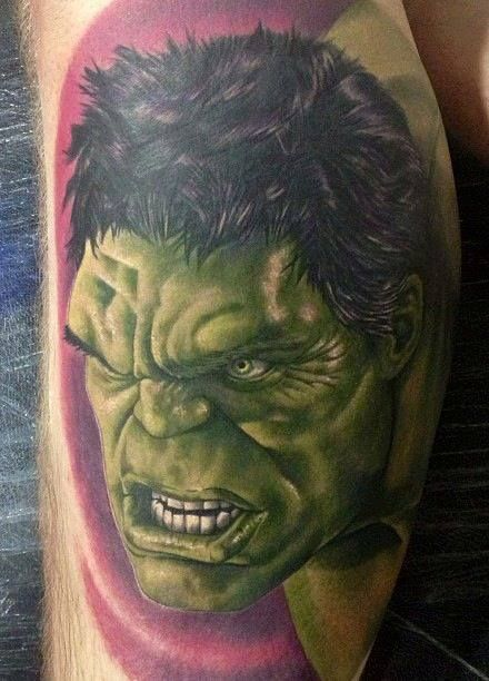 The Incredible Hulk Tattoo - Chris Jones - http://inkchill.com/incredible-hulk-tattoo/