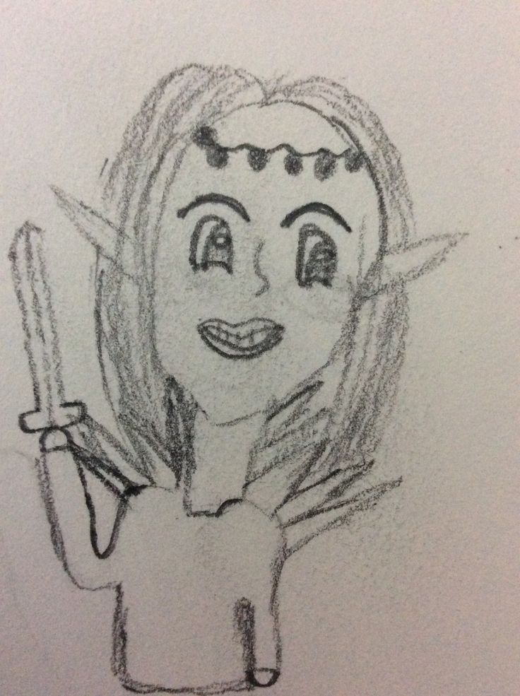 Tried to do an Elf -_- but, now it's really creepy and scary.