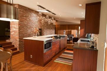 Modern Kitchen Photos Midcentury Modern Kitchen Brick Design, Pictures, Remodel, Decor and Ideas - page 44