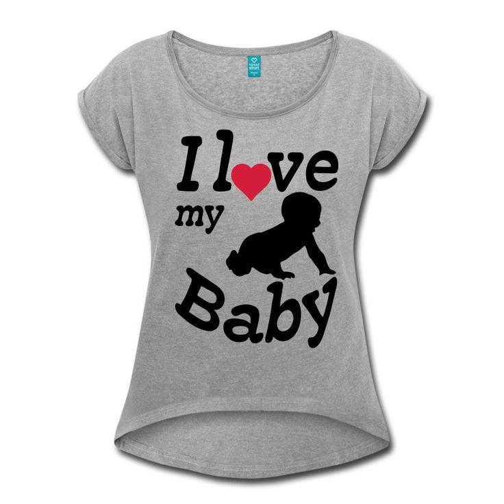 I love my baby - wunderschönes Motiv auf hochwertigen Shirts und Geschenken für alle stolzen Eltern.#baby #babies #kind #kinder #liebe #Ilove #eltern #familie #mutter #vater #mütter #väter #shirts #geschenke #sprüche