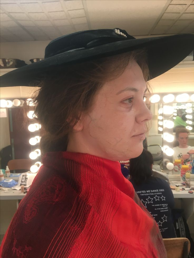 Old age/Fantasy Makeup Application Side View Emma Imes