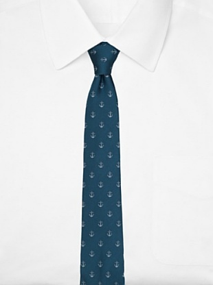 Original Penguin Men's Anchor Tie, Teal