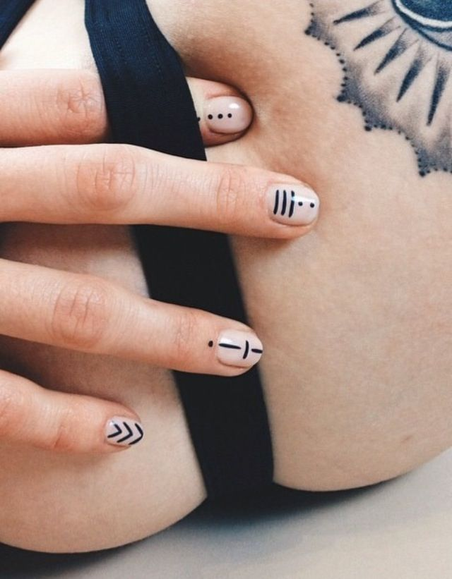 Here is Top Minimalist Nail Art Ideas That You Can Copy Right Now. To do  away with how people quickly understands your nails aren't original, the  best that ... - Best 25+ Line Nail Art Ideas On Pinterest Line Nails, Geometric