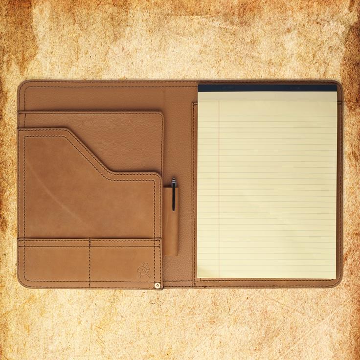 Saddleback Leather tobacco brown notepad holder