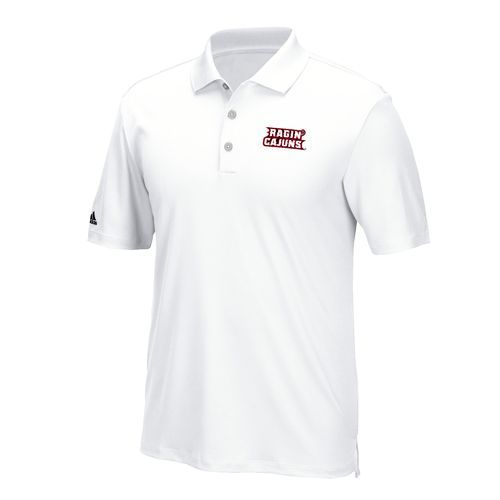 Adidas Men's University of Louisiana at Lafayette Performance Polo Shirt (White, Size Large) - NCAA Licensed Product, NCAA Men's Jersey/Polos at Ac...