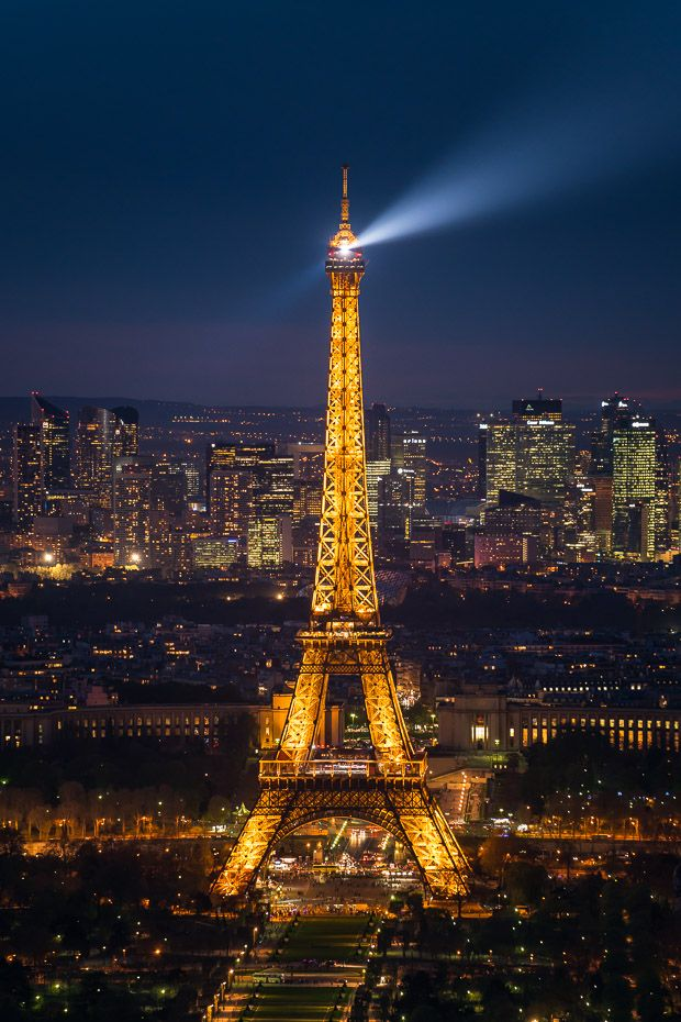Tour Montparnasse offers the best views of the Eiffel tower in town, the lights come up soon after dark and sparkles shine just every hour for five minutes! A Week in Paris in Spring