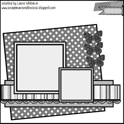Kit Club Sketch Challenge - ScrapMuch?                                                                                                                                                     Más