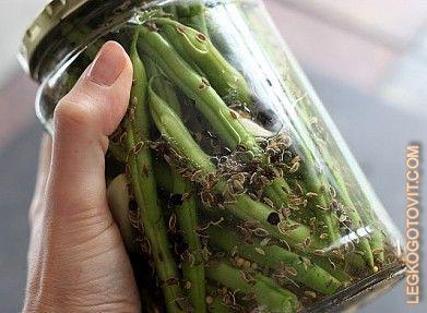 Фото рецепта: Маринованная зеленая фасоль