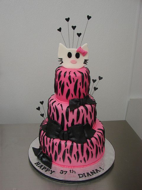Hello Kitty Zebra Print