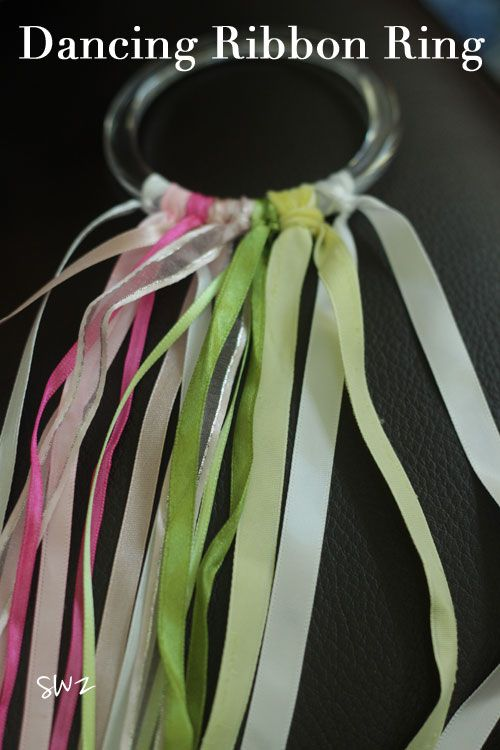 Dancing Ribbon Rings :: A Homemade Instrument Tutorial for Kids