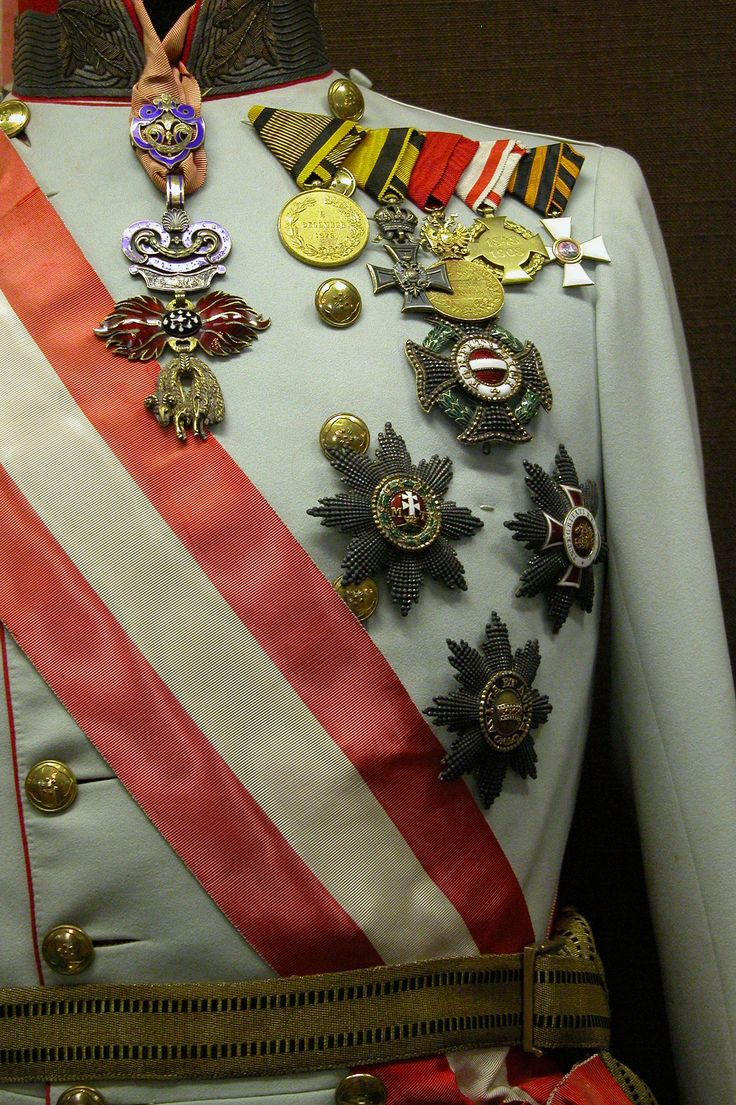 order medal decoration Kaiser Franz Joseph's gala uniform with his military orders, decorations and medals. The highest