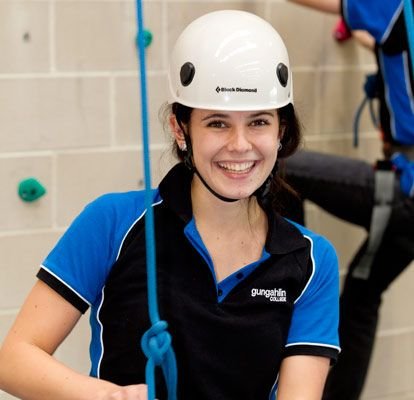Rock-climbing - a recreational study option at Gungahlin College