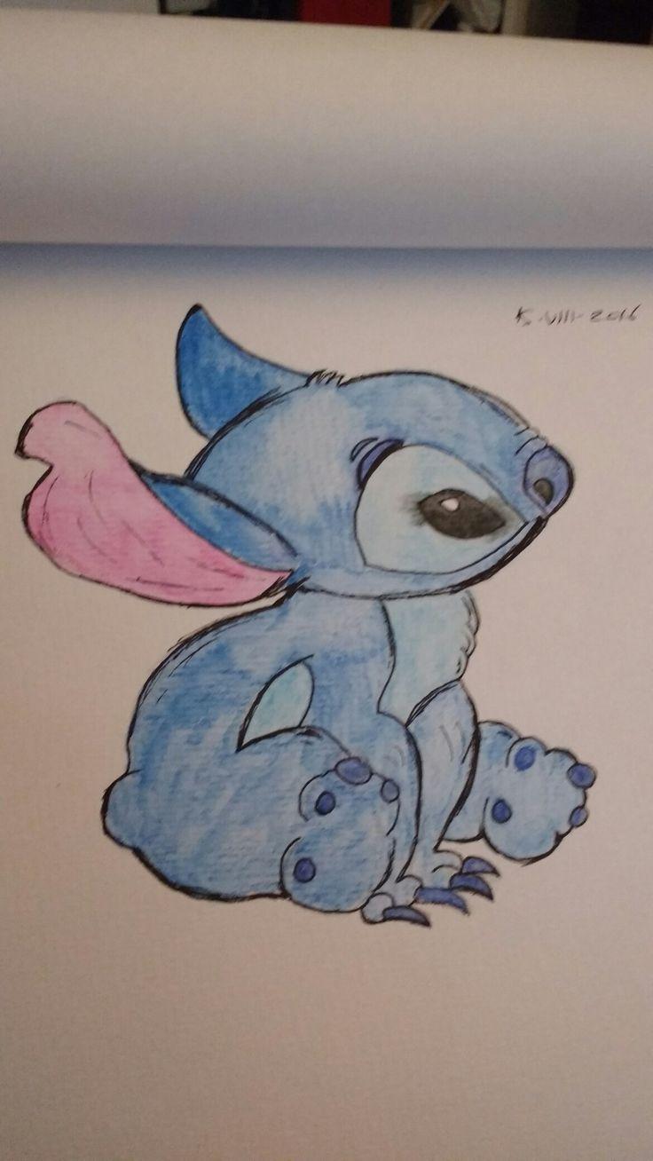 Watercolor pencil Stitch