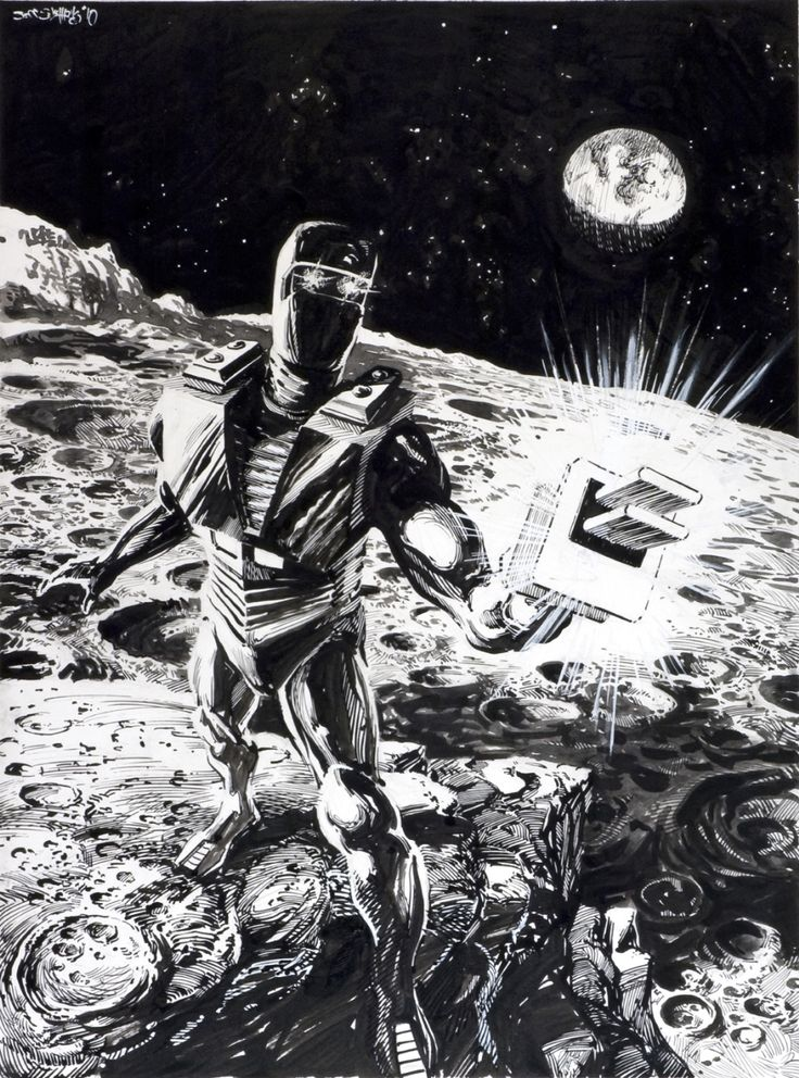 Comic Art Shop :: Jeff Slemons's Comic Art Shop :: ROM Spaceknight:: The largest selection of Original Comic Art For Sale On the Internet