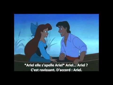 Kiss the Girl from The Little Mermaid. In French with French subtitles.  Great for teaching commands