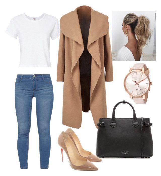 """""""Untitled #17"""" by smileonlife on Polyvore featuring RE/DONE, Dorothy Perkins, Christian Louboutin, Burberry, Ted Baker and Love Couture"""