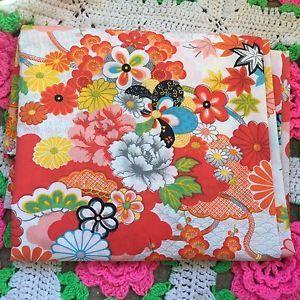 Vtg RARE Wamsutta Bold Floral Kimono Asian King Flat Sheet Bedding Oriental | eBay