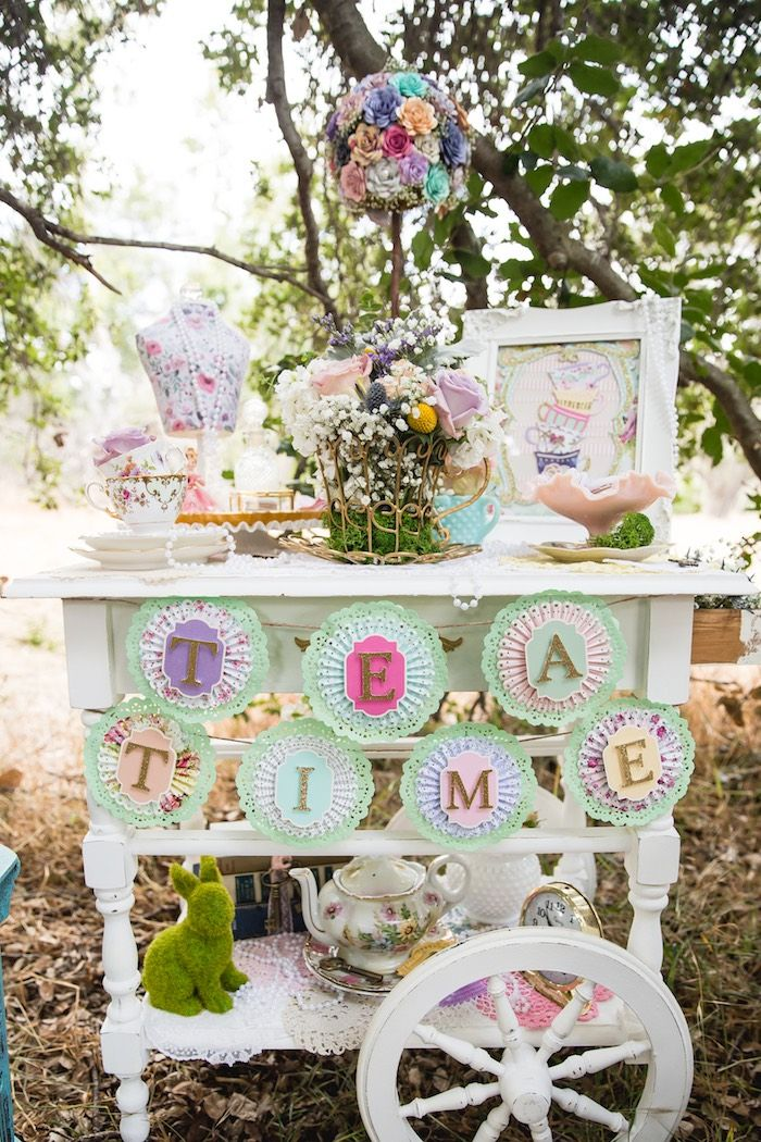 Vintage Tea Party on Kara's Party Ideas | KarasPartyIdeas.com (31)