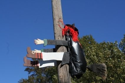 How To Build A Halloween Witch Hitting A Tree Trees A