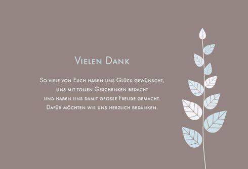 Danksagung Blättertraum by Tomoë für Rosemood.de #Danksagung #Blatt