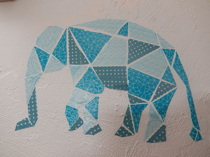 Washi Tape Geometric Elephant Definitely took a little bit of patience to finish this