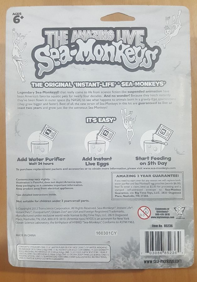 Amazing Live Sea Monkeys Ocean Zoo Color Styles Vary 703086852364 Ebay Monkeys Ocean Sea Sea Monkeys Suspended Animation Zoo