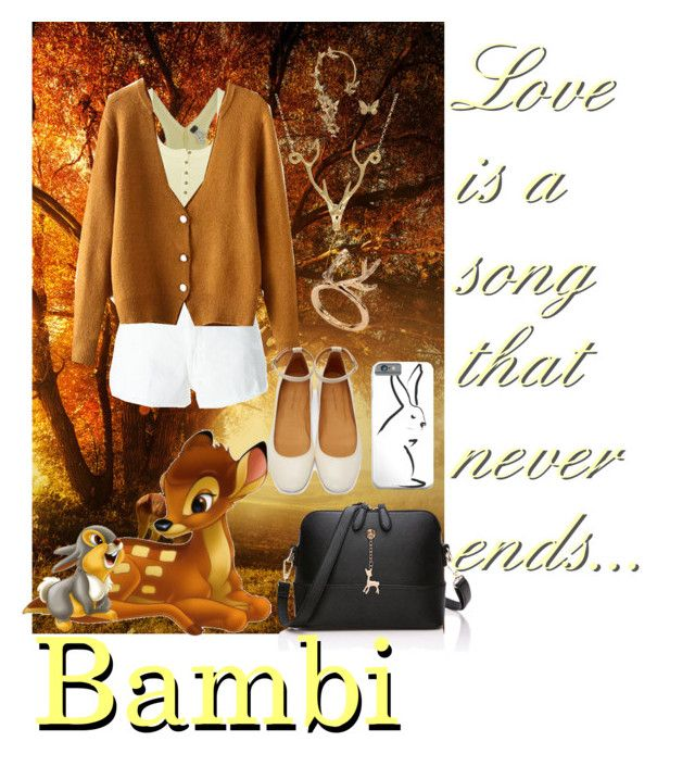 """Bambi"" by musie-della ❤ liked on Polyvore featuring Free People, Dondup, Isabel Marant, Lee Renee, Bernard Delettrez, disney and bambi"