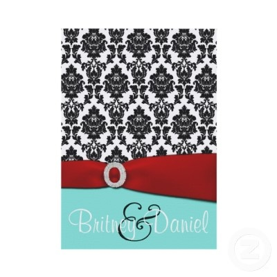Tiffany Blue and Red Wedding Invitations | Blue and, An ...