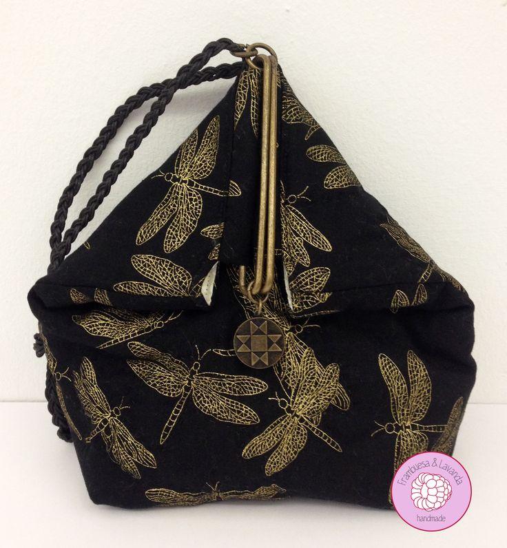 #bolso de #mano #japonés con #boquilla #patchwork #handmade #costura