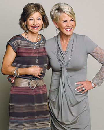 These two entrepreneurs exemplify staying chic at any age, it helps to be slim, have a great haircut and sense of style..