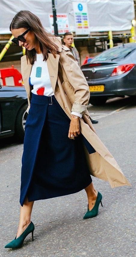 Découvrez 25 looks inspirants pour porter un trench coat avec style! Le meilleur des Fashion Weeks de New York, Milan et Paris.