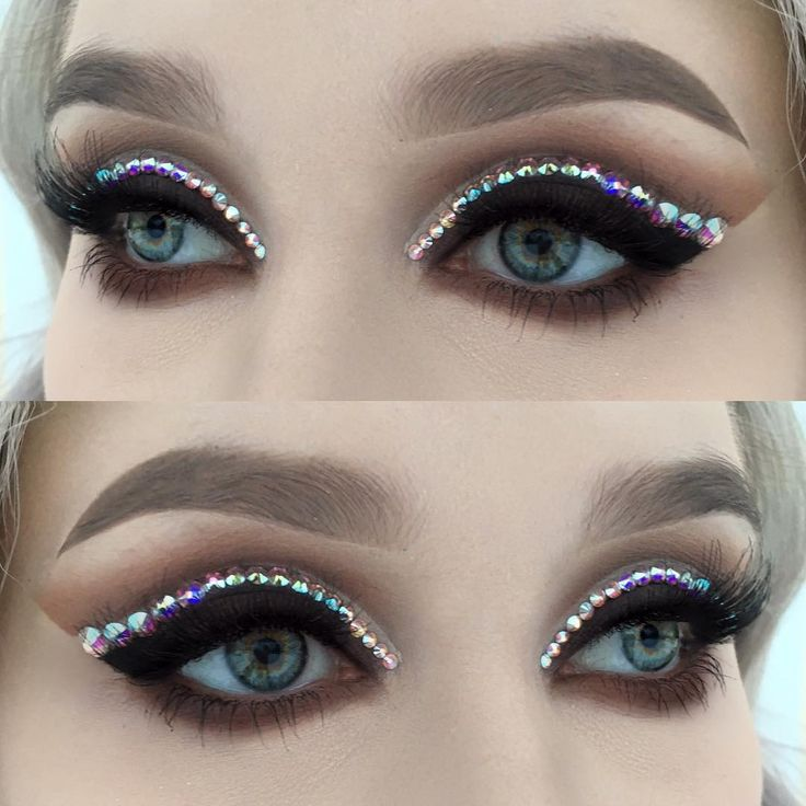 "Makeup by Helenesjostedt on instagram! ""Crystal cut crease ✨ I used @urbandecaycosmetics Gwen stefani palette"""