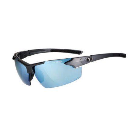 Jet Fc, Matte Gunmetal Single Lens Sunglasses Smoke Bright Blue Lenses, Silver