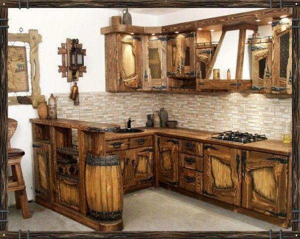 Дизайн кухни в русском деревенском стиле