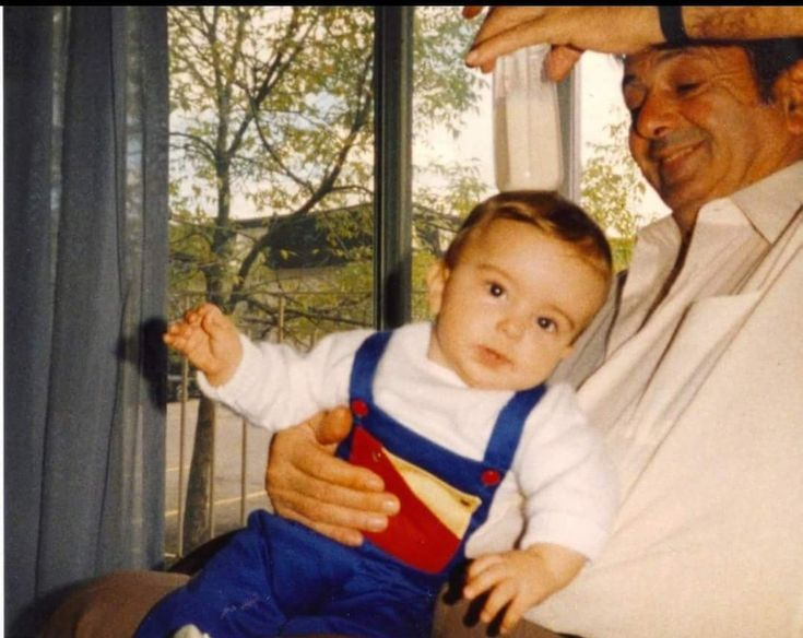 My son Andrew  with my Dad in 1985