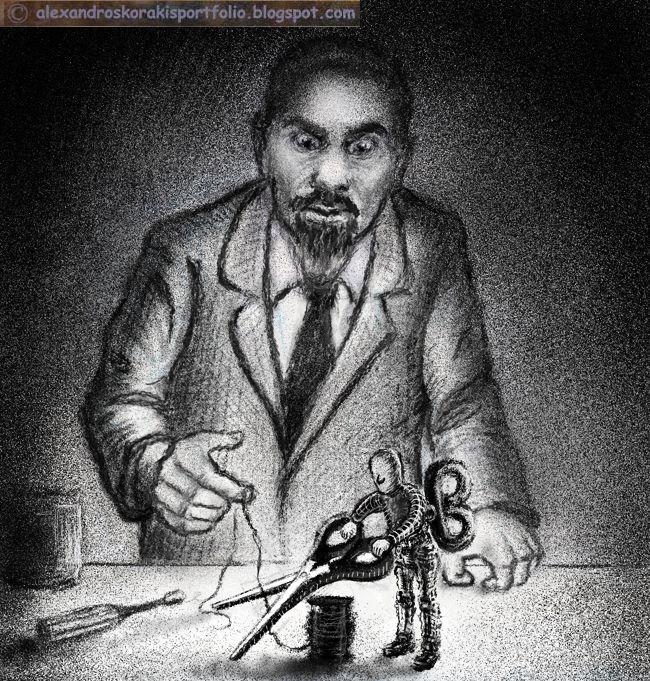 AUTOMATON INVENTOR by alexkorakis.deviantart.com on @deviantART Illustration