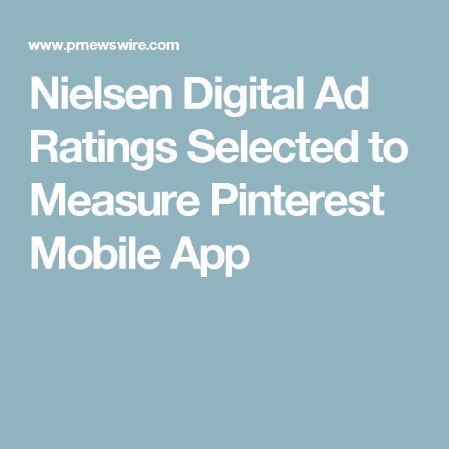 Nielsen Digital Ad Ratings Selected to Measure Pinterest Mobile App