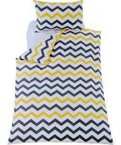 Classy Chevron Bedding Set (Duvet Cover With Pillow Case) Reversible - Single. duvet set http://www.amazon.co.uk/dp/B01B641RUU/ref=cm_sw_r_pi_dp_puLWwb0DK8RQE