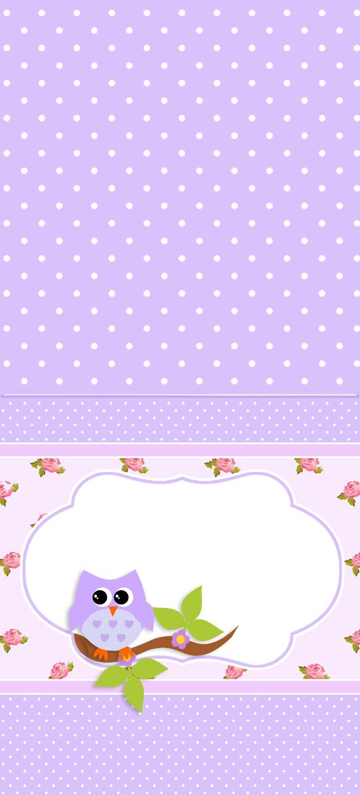 Montando a minha festa: Corujinha floral
