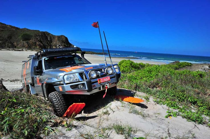 Using MAXTRAX to recover a 4WD bogged in sand has become commonplace in Australia and around the world.