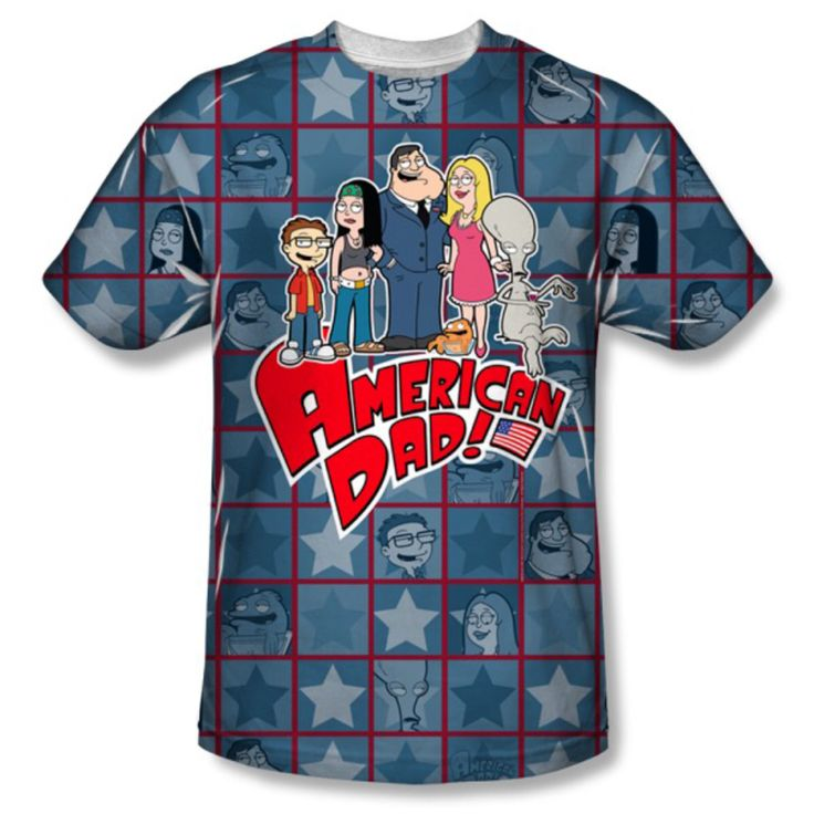 American dad T shirt on a 100% percent Polyester T Shirt - FREE Shipping American dad stan smith -  Seth MacFarlane by Lollipoptshirts on Etsy