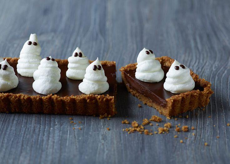 Lækker Halloweentærte - perfekt til børn - se opskriften - Odense Marcipan