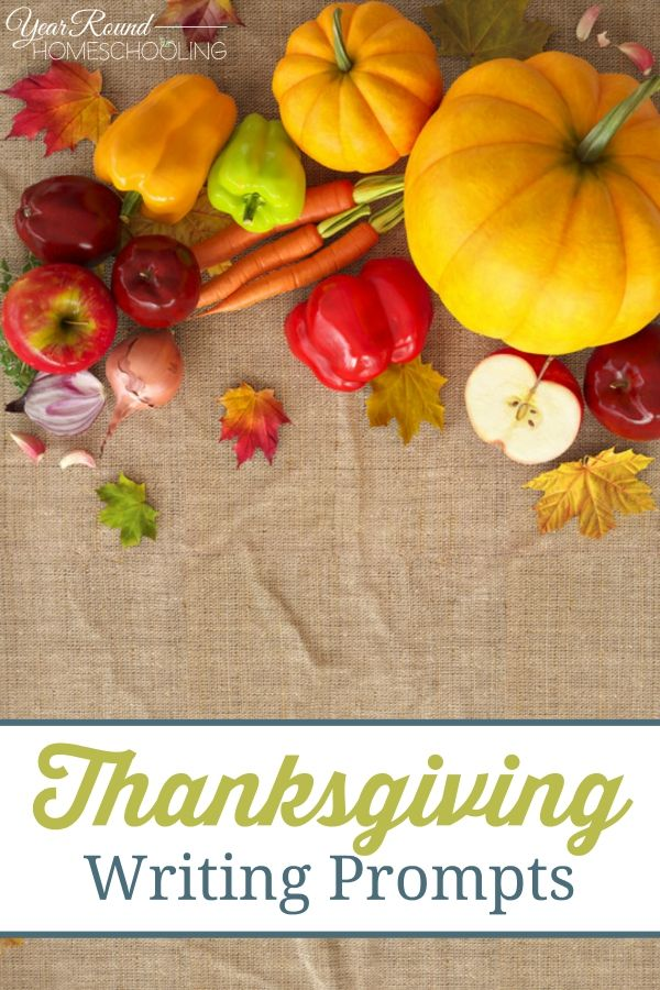 Thanksgiving Writing Prompts - #Thanksgiving #Writing #Homeschooling