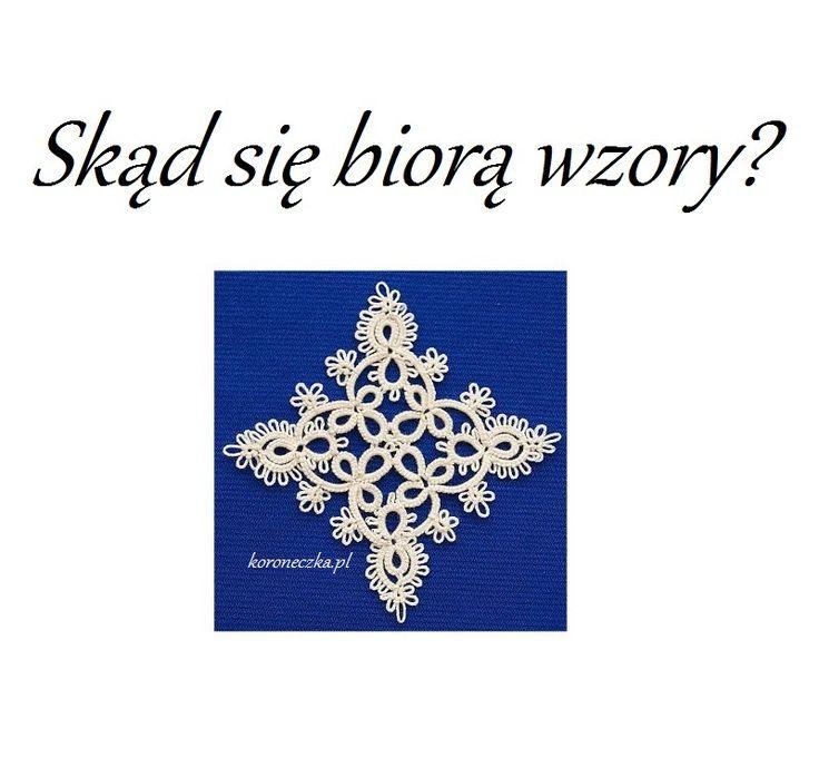 Koroneczka - frywolitki i ceramika: Frywolitkowa serwetka z kwadratów - czyli skąd się...