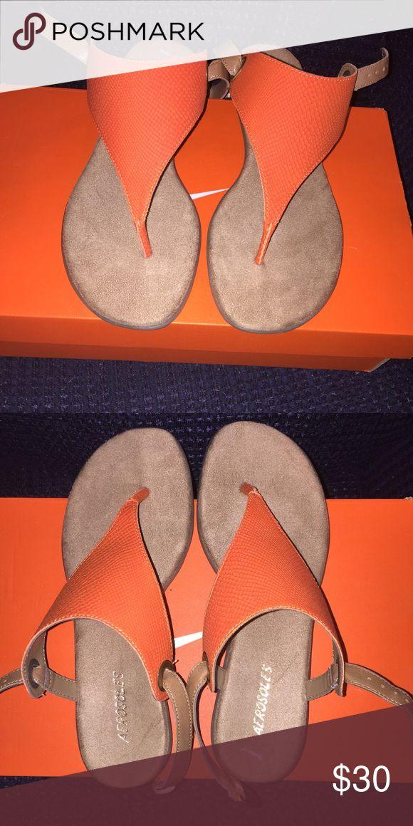 Orange sandals NWOT soft soles AEROSOLES Shoes Sandals