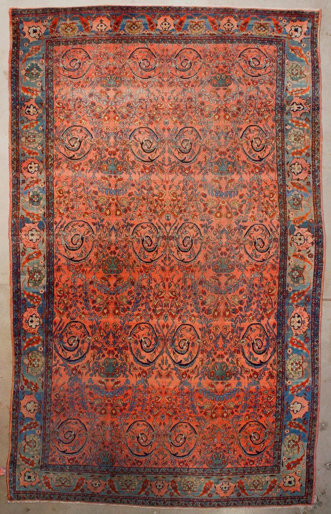 Antique Persian Bijar Mostufi Design