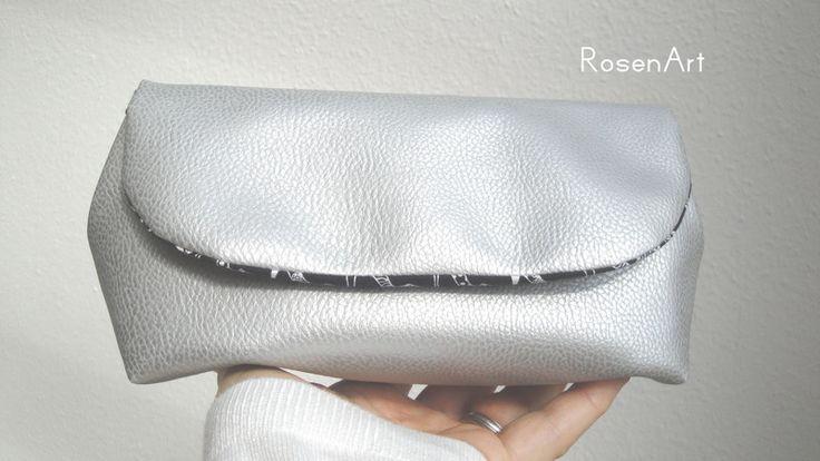 Clutch+silber+silberne+Clutch+Schlicht+High+Heels+von+RosenArt+auf+DaWanda.com
